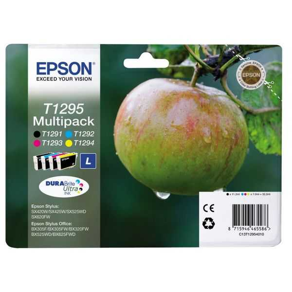 originální sada Epson T1295 cartridge originální inkoustové náplně pro tiskárnu Epson Stylus Office BX305F