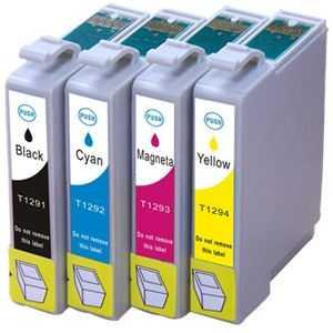 sada Epson T1295 cartridge kompatibilní inkoustové náplně pro tiskárnu Epson Stylus SX440W
