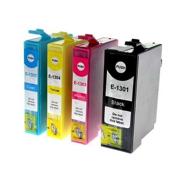 sada Epson T1306 cartridge kompatibilní inkoustové náplně pro tiskárnu Epson Stylus SX535WD