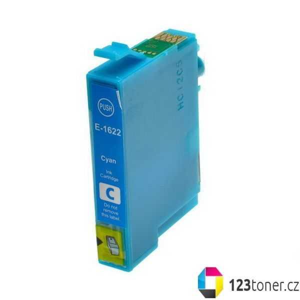Epson T1622 cyan modrá azurová cartridge kompatibilní inkoustová náplň pro tiskárnu Epson WorkForce WF-2530WF