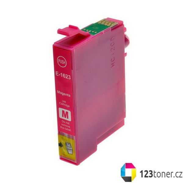 Epson T1623 magenta purpurová červená cartridge kompatibilní inkoustová náplň pro tiskárnu Epson WorkForce WF-2500 Series