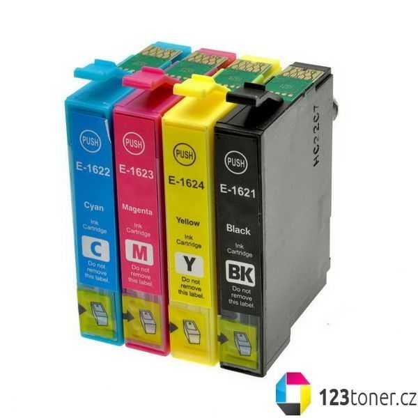 sada Epson 16 - T1626 (T1621, T1622, T1623, T1624) kompatibilní cartridge inkoustové náplně pro tiskárnu Epson WorkForce WF-2530WF