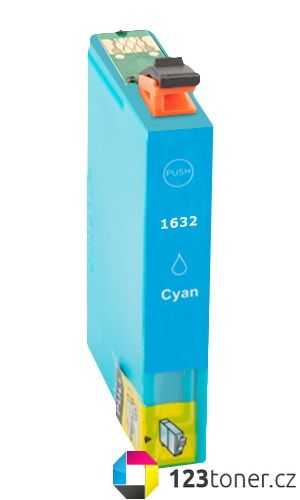 Epson T1632XL cyan modrá azurová cartridge kompatibilní inkoustová náplň pro tiskárnu Epson WorkForce WF-2530WF