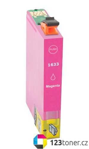 Epson T1633XL magenta purpurová červená cartridge kompatibilní inkoustová náplň pro tiskárnu Epson WorkForce WF-2530WF