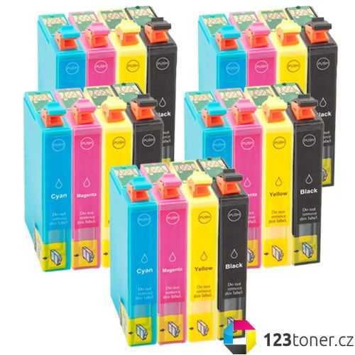 5x sada Epson 16XL - T1636 (T1631, T1632, T1633, T1634) - 20x kompatibilní cartridge inkoustové náplně pro tiskárnu Epson WorkForce WF-2530WF