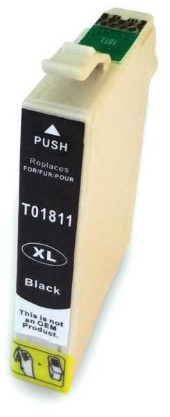 Epson T1801 black cartridge černá kompatibilní inkoustová náplň pro tiskárnu Epson Expression Home XP-30