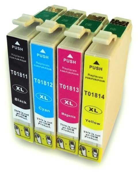 sada Epson T1806 (T1801, T1802, T1803, T1804) kompatibilní cartridge inkoustové náplně pro tiskárnu Epson Expression Home XP-225