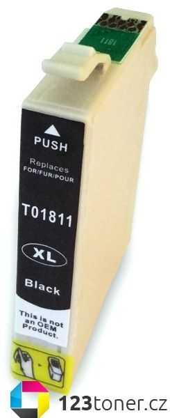 Epson T1811XL black cartridge černá kompatibilní inkoustová náplň pro tiskárnu Epson Expression Home XP-422