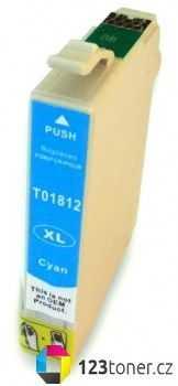 Epson T1812XL cyan modrá azurová cartridge kompatibilní inkoustová náplň pro tiskárnu Epson Expression Home XP-302