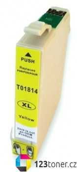 Epson T1814XL yellow žlutá cartridge kompatibilní inkoustová náplň pro tiskárnu Epson Expression Home XP-102
