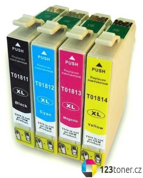 sada Epson T18XL T1816 (T1811, T1812, T1813, T1814) kompatibilní cartridge inkoustové náplně pro tiskárnu Epson Expression Home XP-302