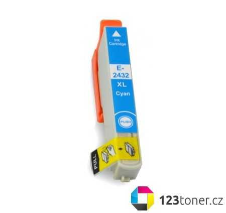 Epson T2432 cyan cartridge modrá azurová kompatibilní inkoustová náplň pro tiskárnu Epson Expression Photo XP-760