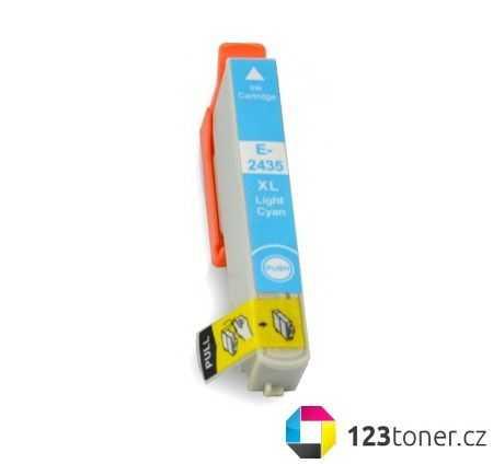 Epson T2435 cyan foto cartridge světle modrá azurová kompatibilní inkoustová náplň do tiskárny Epson Expression Photo XP-950