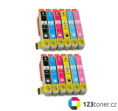 2x multipack kompatibilní sada s Epson T2438 - Epson 24XL (T2431, T2432, T2433, T2434, T2435, T2436) kompatibilní cartridge, inkoust do tiskárny Epson Expression Photo XP-860