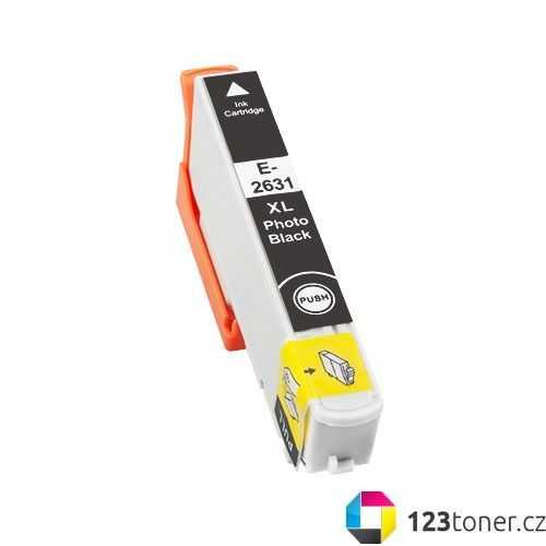 Epson T2631 - 26XL black foto cartridge černá foto kompatibilní inkoustová náplň pro tiskárnu Epson Expression Premium XP-610