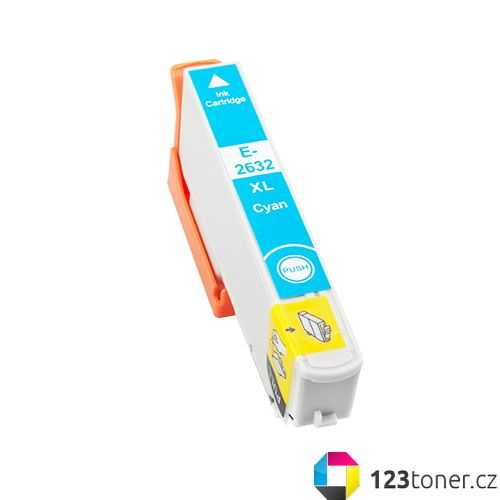 Epson T2632 - 26XL cyan cartridge modrá azurová kompatibilní inkoustová náplň pro tiskárnu Epson Expression Premium XP-700