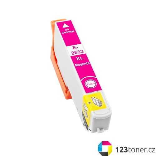 Epson T2633 - 26XL magenta cartridge purpurová červená kompatibilní inkoustová náplň pro tiskárnu Epson Expression Premium XP-615
