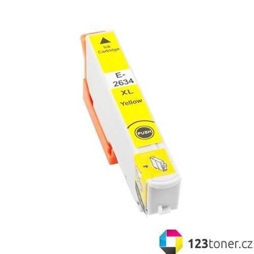 Epson T2634 - 26XL yellow cartridge žlutá kompatibilní inkoustová náplň pro tiskárnu Epson Expression Premium XP-800